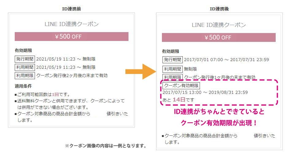 マイページの連携画面